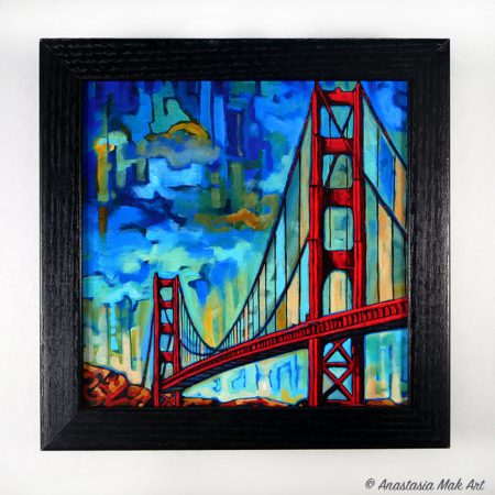Golden Gate box frame print