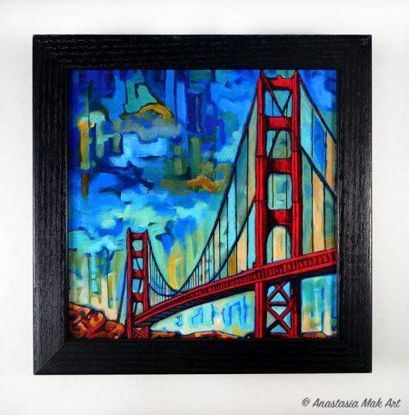 Golden Gate box frame print