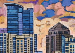 DETAIL: Midtown Atlanta painting