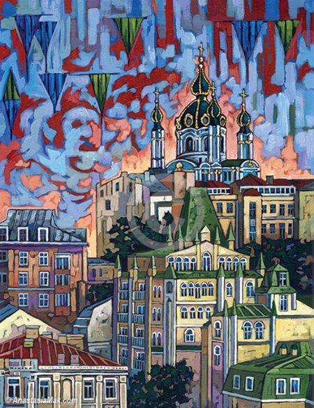 Kiev painting by Anastasia Mak