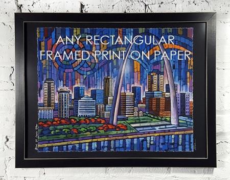 ANY Rectangular Framed Print on Paper