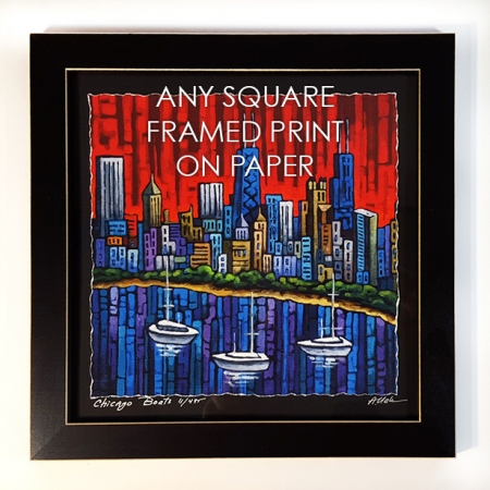 Any square framed print on paper