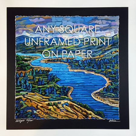 ANY square unframed print on paper
