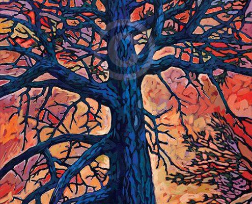 Blue Pine painting