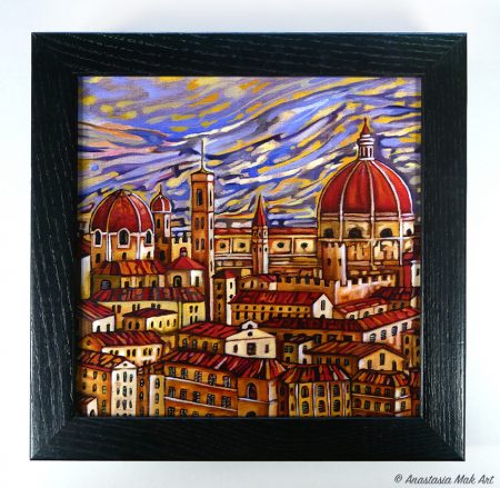 Florence Roofs Box Frame Print