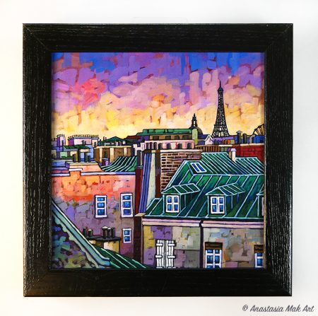 Paris Roofs Box Frame Print
