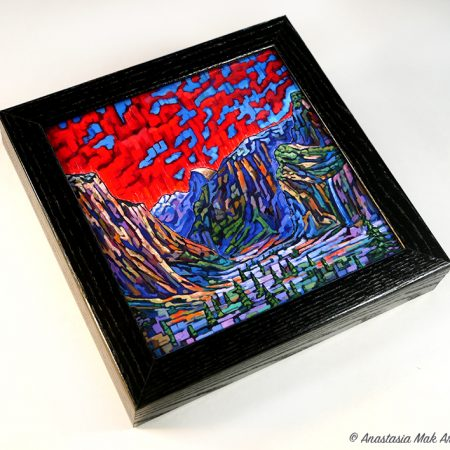 Yosemite Valley Box Frame Print