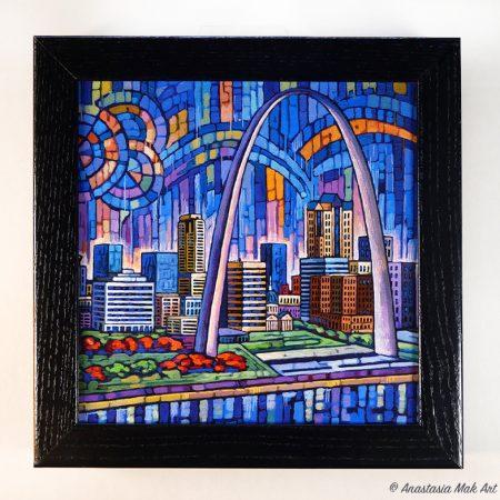 Blue St Louis Box Frame Print