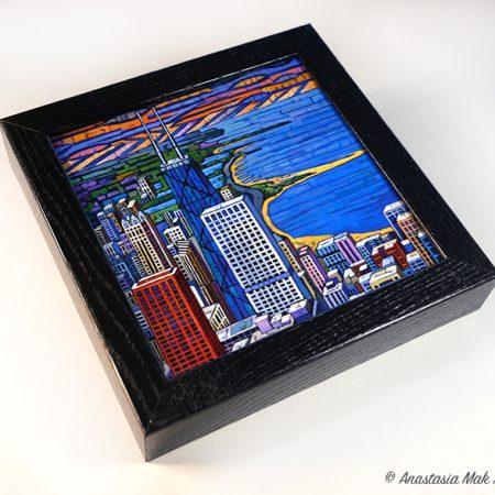 Steel and Beach box frame print