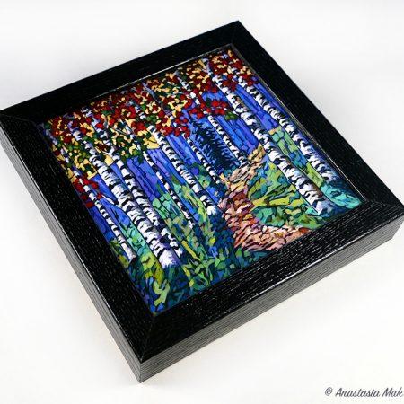 aspen forest box frame print