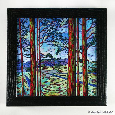 Rainbow Eucalyptus Box Frame Print