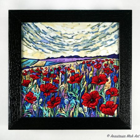 Poppy Field Box Frame Print