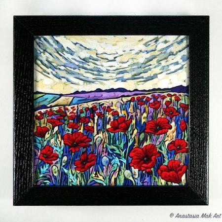 Poppy Field Box Frame Print
