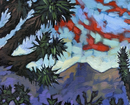 DETAIL: Joshua Tree painting