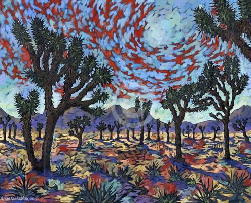 Joshua Tree painting