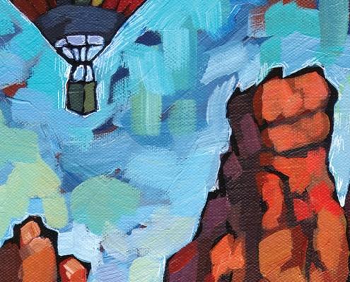DETAIL: Sedona Flight painting
