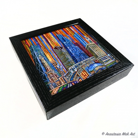 Orange Chicago Box Frame Print