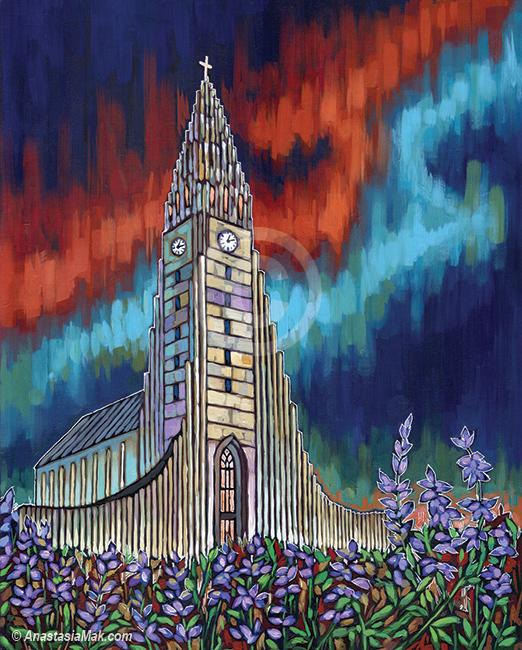 """Iceland light"" painting by Anastasia Mak"