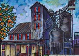 Kentucky Bourbon painting by Anastasia Mak