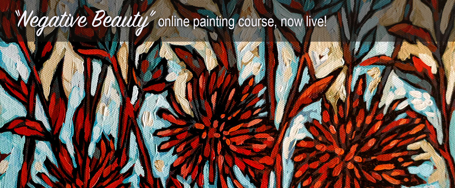 negative beauty painting course