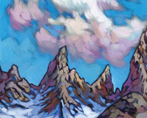 DETAIL: Fitz Roy painting by Anastasia Mak