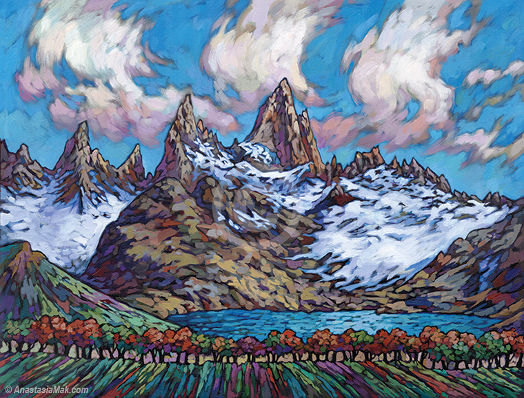Fitz Roy painting by Anastasia Mak