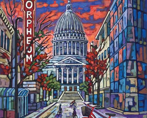 Madison Evening painting by Anastasia Mak