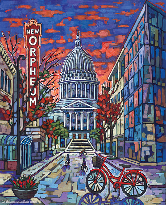Madison Evening painting by Anastasia Mak