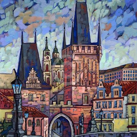 Prague Poetry painting by Anastasia Mak