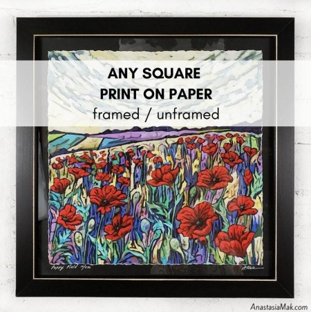 Any SQUARE print on paper
