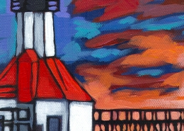 St Joseph Sunset - painting detail