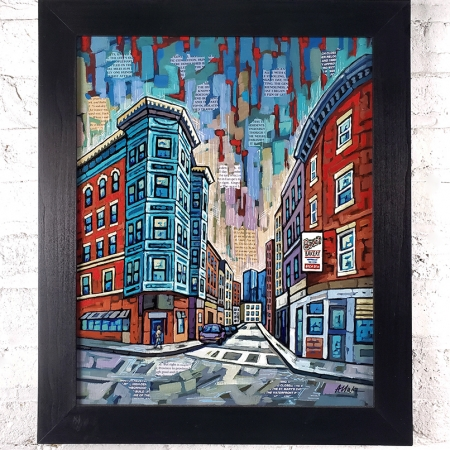 Boston North End painting
