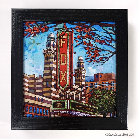 Fox Theater box frame print