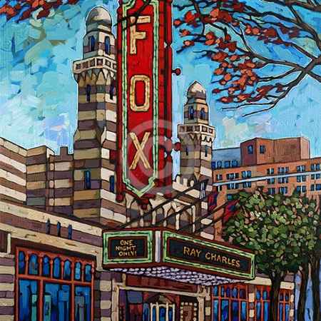 fox theater atlanta painting by Anastasia Mak