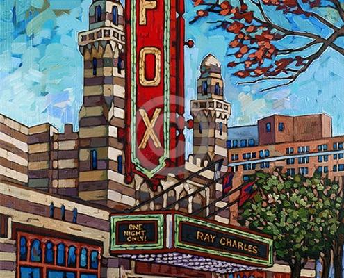 fox theater atlanta painting by Anastasia Mak