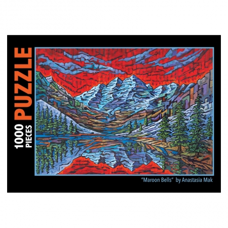 maroon bells jigsaw puzzle by Anastasia Mak