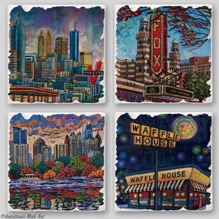 Atlanta coaster set by Anastasia Mak