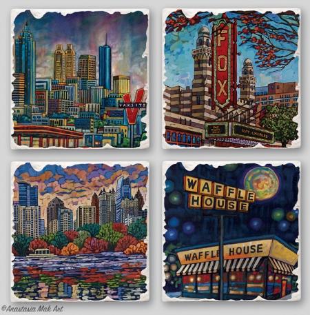 Atlanta coaster set by Anastasia Mak