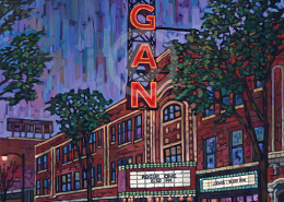 Logan Theater painting by Anastasia Mak