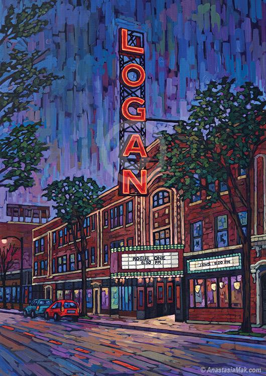 Logan Theater painting by Anastasia Mak