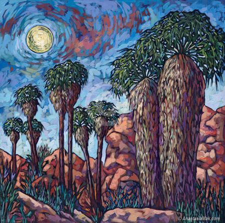 Lost Palms Oasis painting