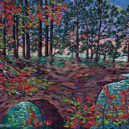 Lake Superior Shore painting by Anastasia Mak