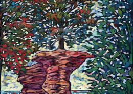 Lucky Tree painting by Anastasia Mak