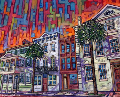 Charleston painting by Anastasia Mak